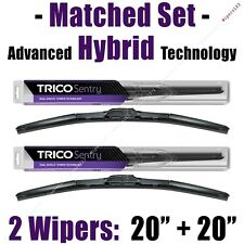 "Matched Set 2 Hybrid Wipers 20""+20"" Trico Sentry Wiper Blades 07-11 - 32-200/200"