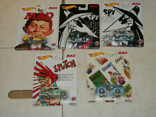 Hot Wheels Pop Culture MAD MAGAZINE Complete Set of 5 NEW