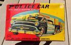 1950s Vintage Tin Battery Operated Buick Police Car by LineMar Marx Japan MINT