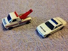 Corgi Jaugar Xj40 Police Car & Corgi Ford Transit Police Wrecker Truck