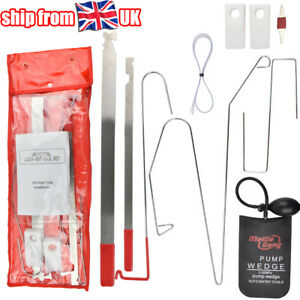 9 Pcs Car Door Open Unlock Tool Kit Key Lock Out Emergency Opening Air Pump