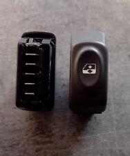 Bouton interrupteur leve vitre gris foncé Clio 2 phase 1 ref 432962 à 6 broches