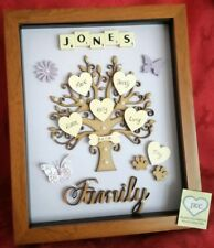 FAMILY TREE PICTURE FRAME PERSONALISED KEEPSAKE GIFT CHRISTMAS BIRTHDAY NAMES