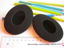 2 Ohrpolster Schaumstoff  97x75 mm oval für HD400 HD 400 HD-400 Headmax