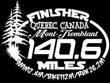 3 PC  Ironman MONT-TREMBLANT  Quebec, Canada Triathlon Finisher Decals