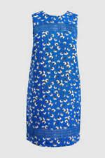 NEXT Blue Orange White Linen Shift Tunic Summer Sun Dress 10 Petite BNWT