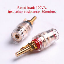 One Pair/2PCS Extended CopperTransparent Binding Post for Stereo System 100VA