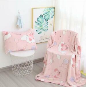 Cartoon Star Kirby Blanket Flannel Blanket Anime Pillow case Pillow Cover
