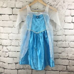 Disney Frozen Queen Elsa Girls Sz 4-6X Dress-Up Play Costume Gown Jakks Pacific
