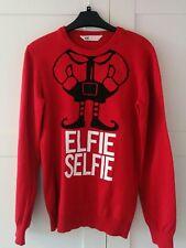 H&M Elfie Selfie red xmas jumper age 12 - 14