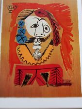 Pablo Picasso Imagery Portrait Poster Offset Lithograph Unsigned 16x11