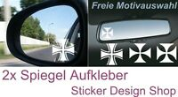 Iron Cross Eisernes Kreuz Spiegel Aufkleber Sticker Auto Laptop Handy Glasgravur