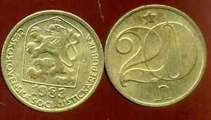 TCHECOSLOVAQUIE  20 haleru 1983  ( bis )