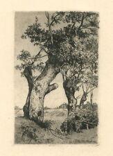 Felix Hollenberg original etching