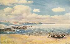 Postcard Rothenberger Artist Signed Beach Rocks Boat ca1906-20