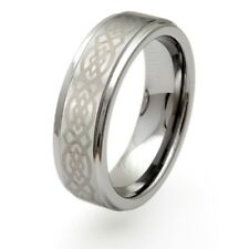 NEW Mens 8mm Celtic Knot Tungsten Carbide Weddding Band Ring Jewellery Boxed