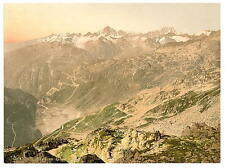 Furka passaggio Panorama bernese oberland A4 FOTO STAMPA