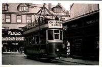 Original real photograph Tram Merthyr Tydfil 2 tramcar circa 1940