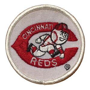 "1980'S CINCINNATI REDS MLB BASEBALL VINTAGE 3"" ROUND TEAM LOGO PATCH"