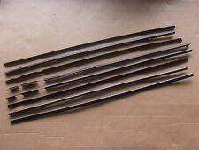 NEW 1960 1961 Desoto Chrysler Window Felt Sweep Belt Weatherstrip Catwhisker Set