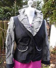 Modische Kurze Damen Jacke  von  Steilman abnehmbare Kragen Gr.38