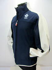 Hudson Bay Co. Canada Olympic Navy White Women's S Soft Shell Fleece jacket