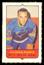 1969-70 OPC O-PEE-CHEE MINI 4in1 JACQUES PLANTE ST LOUIS BLUES ENM STAMP Sticker
