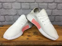 ADIDAS ORIGINAL WHITE DEERUPT SEAMLESS TRAINERS VARIOUS SIZES LADIES CHILDRENS