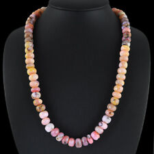390.00 CTS NATURAL UNTREATED RICH PINK AUSTRALIAN OPAL ROUND BEADS NECKLACE