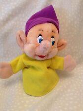 VINTAGE DISNEYLAND PLUSH DOPEY Snow White Seven DWARFS Hand Puppet