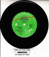 "T'PAU China In Your Hand 7"" 45 rpm vinyl record + juke box title strip"