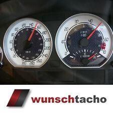 """Tachoscheibe für Tacho BMW E46 Benziner """"Digital/Carbon"""" 310 Kmh."""
