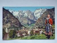COURMAYEUR panorama Monte Bianco Valle d'Aosta vecchia cartolina