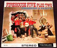Walt Disney Studio Jazz Firehouse Five Plus Two CRASHES A PARTY LP / UK Import