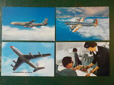 VINTAGE AMERICAN AIRLINES POSTCARDS LOT OF 4 VERY GOOD SHAPE FLIGHT ATTENDANT