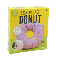 Sew-mazing Easy-To-Knot Donut Pillow Kit DIY Fun Kids Craft Project No Sewing