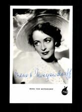 Irene von Meyendorff Netters Autogrammkarte Original Signiert ## BC 155582