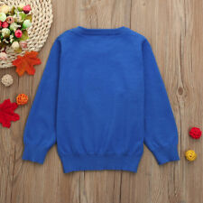 Infantil Bebé Niño Niña Manga Larga Suéter De Punto Suéter Blusa Jersey 0