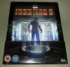 New Iron Man 3 3D + 2D Blu-ray Steelbook™ Zavvi Exclusive + Lenticular Magnet