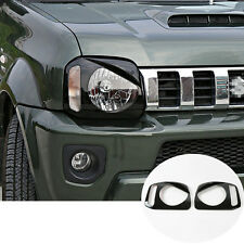 Black ABS Bird Style Front Head Light Trim Cover 2pcs For Suzuki Jimny 2012-2015