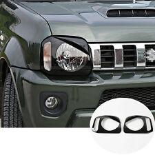 Black ABS Bird Style Front Head Light Trim Cover 2pcs For Suzuki Jimny 2012-2015
