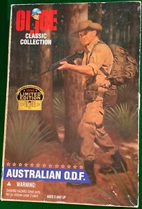 "G.I. Joe 1996 Classic Collection AUSTRALIAN O.D.F. Black Soldier 12"" Box Hasbro"