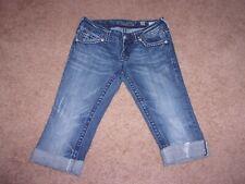 Women Miss Me Brand Denim Capris Jeans Flap Pockets SiZe 26 GUC!!!