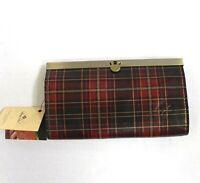 Patricia Nash Tartan Cauchy Leather Wallet Clutch