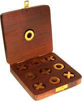Wooden Crosses Tic Tac Toe Board Games for Kids - Brain Teaser Tic Tac Toe Gift