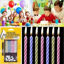 3 PKGS OF 10 RELIGHTING CANDLES YOU BLOW THEM OUT AND THEY KEEP RELIGHTING FUN!