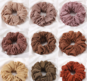 Large Hair Scrunchie Volumiser Chiffon Elastic Hair Tie Bun Hijab Multi Colour