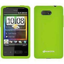 NEW AMZER GREEN PREMIUM SILICONE SOFT SKIN JELLY CASE COVER FOR HTC HD Mini