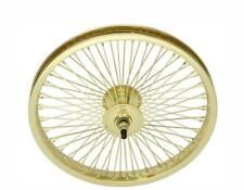 "BICYCLE 16"" FRONT WHEEL GOLD W/ 72 SPOKES CRUISER LOWRIDER BIKES"