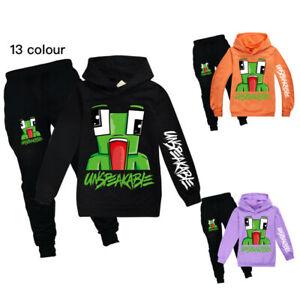 New UNSPEAKABLE Boys Girls Hoodie Sweatshirt Tops+Trousers Kids Casual Set Gift